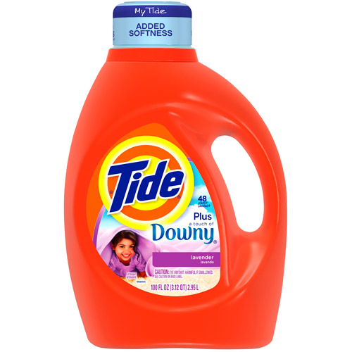 Tide 2x Ultra With Downy Liquid Laundry Detergent, Lavender, 3.12 qt