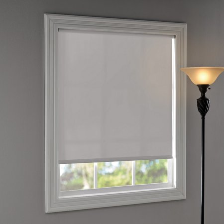 "Mainstays Room Darkening, Tear-to-Fit Roller Shade 37-1/4""x72"", White"