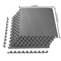 Fitit 1/2 Inch EXTRA Thick EVA Foam Mat with Interlocking Tiles 24 Square Feet