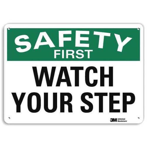 LYLE U7-1264-RA_10X7 Safety Sign,Reflective Alum,7inHx10inW G1813826
