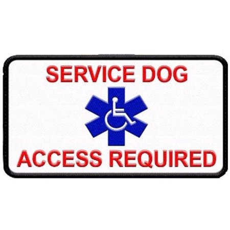 Service Dog Patch for Service Dog Vest or Harness