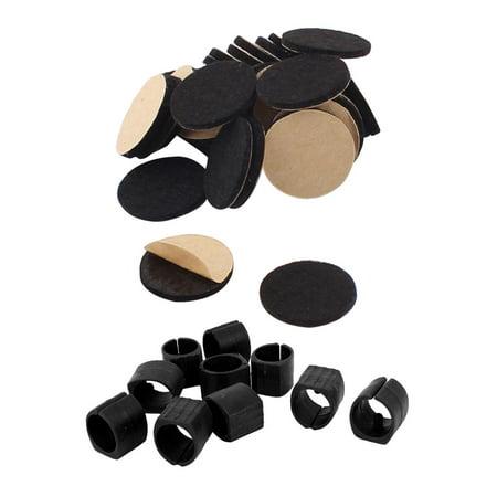 Furniture Felt Cushions Pads Mats Black 20mm 30pcs 10pcs Breuer Chair Tubing Pipe Foot U Shape Plastic Caps 20mm Dia Walmart Com