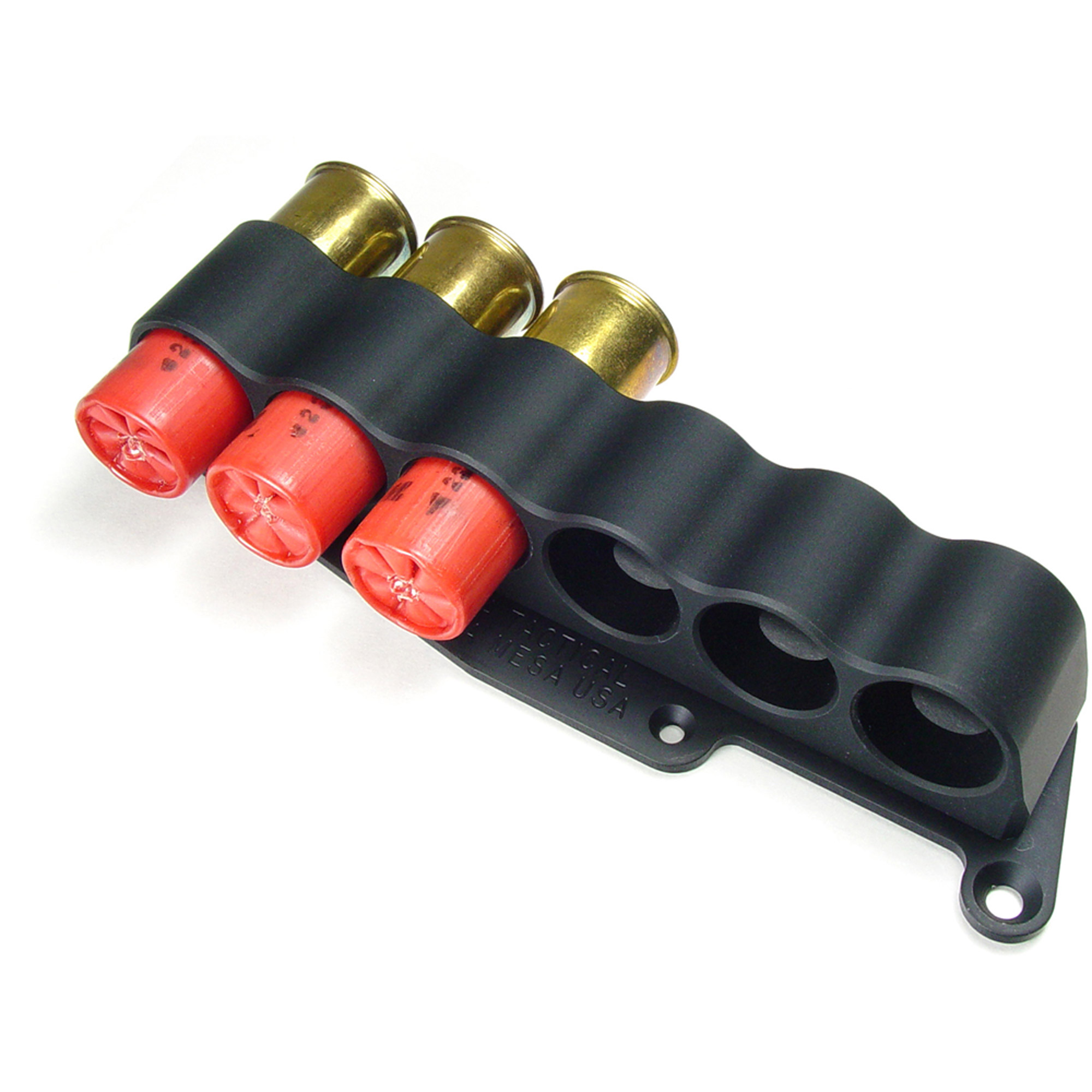 Mesa Tactical 6-Shell Side Saddle, 12 Gauge, Rugged, Reliable On-gun Shotshell Carriers, Fits Remington 870, Black
