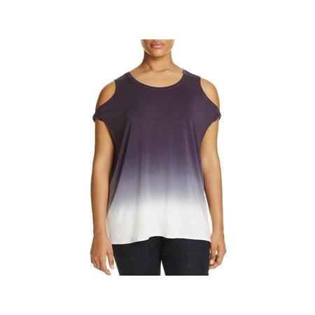 Lysse Womens Plus Modal Dip Dye Casual Top