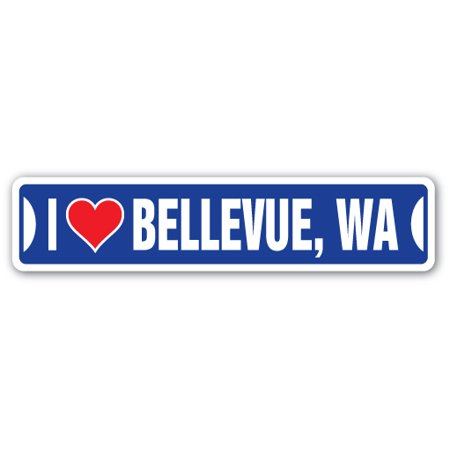 I LOVE BELLEVUE, WASHINGTON Street Sign wa city state us wall road décor gift](Party City Bellevue)