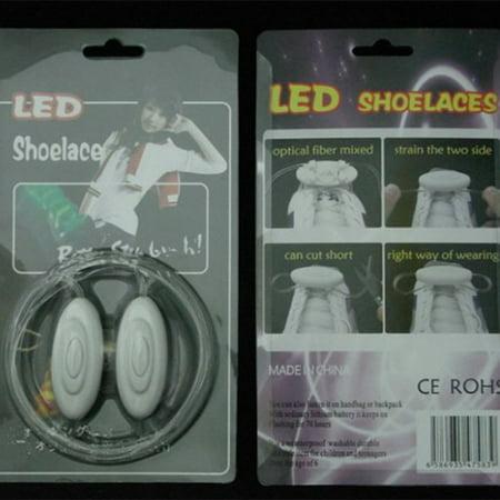 Novel LED Nylon Shoelaces Light Up Flashing Shoe Laces for Christmas Gift - image 4 of 6