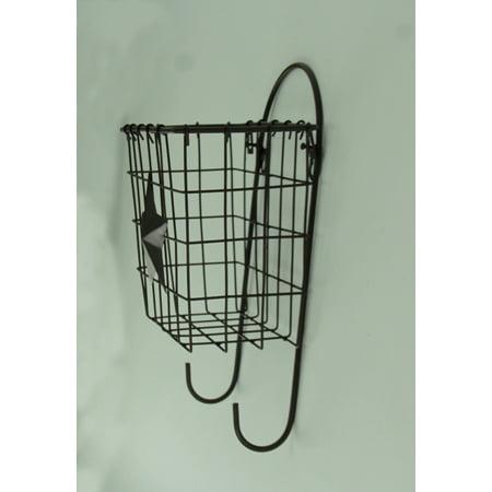 Rustic Western Star Wall Mounted Basket Shelf With Hooks - image 1 de 3