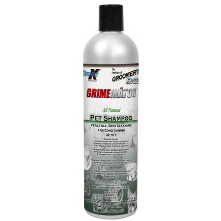 Concentrated Citronella Shampoo (Groomers Edge GRIMEinator Shampoo 16oz Concentrate 32:1)
