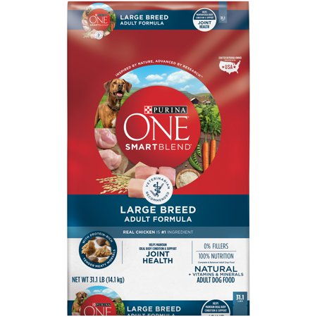 Purina ONE SmartBlend Natural Large Breed Formula Adult Dry Dog Food - 31.1 lb. Bag for $<!---->