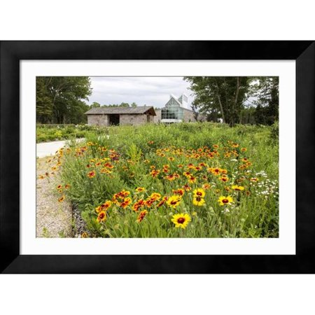 Charlton Home 'The International Peace Gardens Near Dunseith, North Dakota, USA' Framed Photographic Print - Walmart.com
