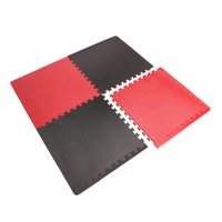 CAP High Density Reversible 4-Piece 13.7 Sq Ft Puzzle Exercise Mat, Gray/Blue