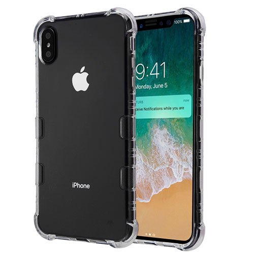 pick up 03da3 e6eaa Apple iPhone Xs Max (6.5 Inch) Phone Case Slim Thin Tuff Klarity Hybrid  Candy Silicone Rubber Soft Protective Cover Clear Transparent Phone Case  for ...