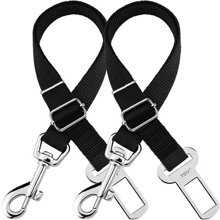Fast Pack Harness (TSV Dog Leash Seat Belt 2 Pack- Adjustable Pet Car SeatBelt Safety Lead for Dogs and Cats, Seatbelt Harness for all)