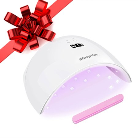 New Year Sales! Morpilot 9X 24W LED UV Nail Dryer Curing Lamp for Fingernail & Toenail Gels Based Polishes UV Gel Nail Art Lamp With