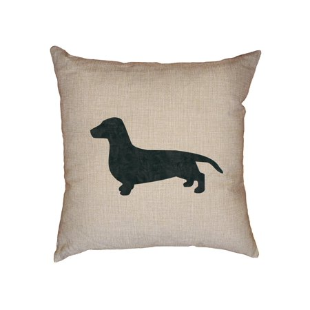 Dachshund Dog Decorative Linen Throw Cushion Pillow Case with Insert ()