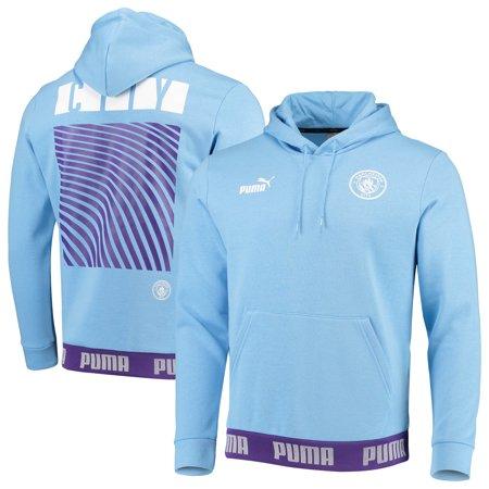Manchester City Puma Football Culture Pullover Hoodie - Light Blue (Manchester City Soccer Hoodie)