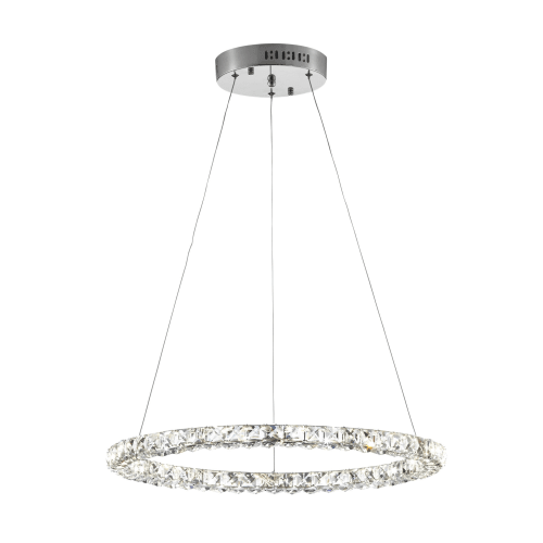 Bazz Lighting P14465CR Glam Single Light 35  Wide Integrated LED Crystal Ring Ch  sc 1 st  Walmart & Bazz Lighting P14465CR Glam Single Light 35