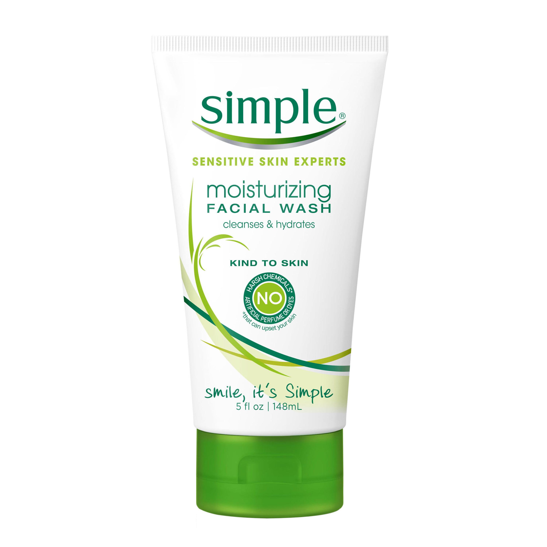 Simple Moisturizing Facial Wash, 5 Fl Oz