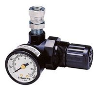 SHARPE MANUFACTURING 1410 Air Mini Regulator, Gauge, 16C-MR