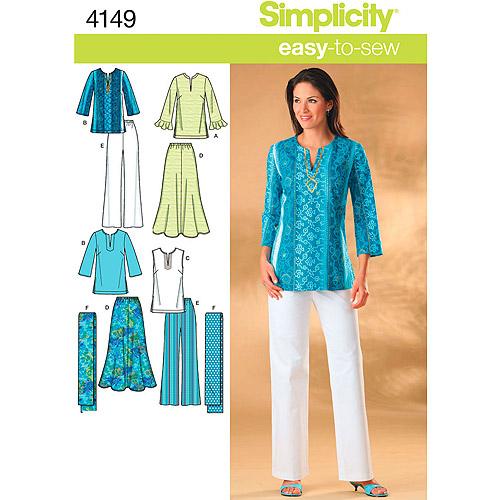 Simplicity Pattern Misses'/Women's Skirts, Pants, (10, 12, 14, 16, 18)