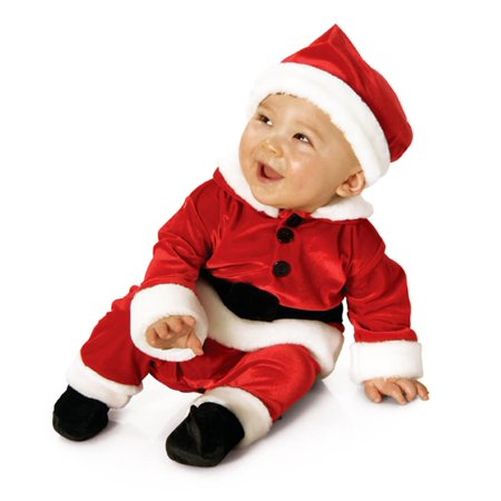 Velvet Santa Suit Baby Child Costume