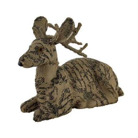 Brown Postcard - Postcard Print Brown Burlap Deer Statue