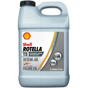 (3 Pack) Shell Rotella T5 5W-40 Synthetic Blend Heavy Duty Diesel Engine Oil, 2.5 gal