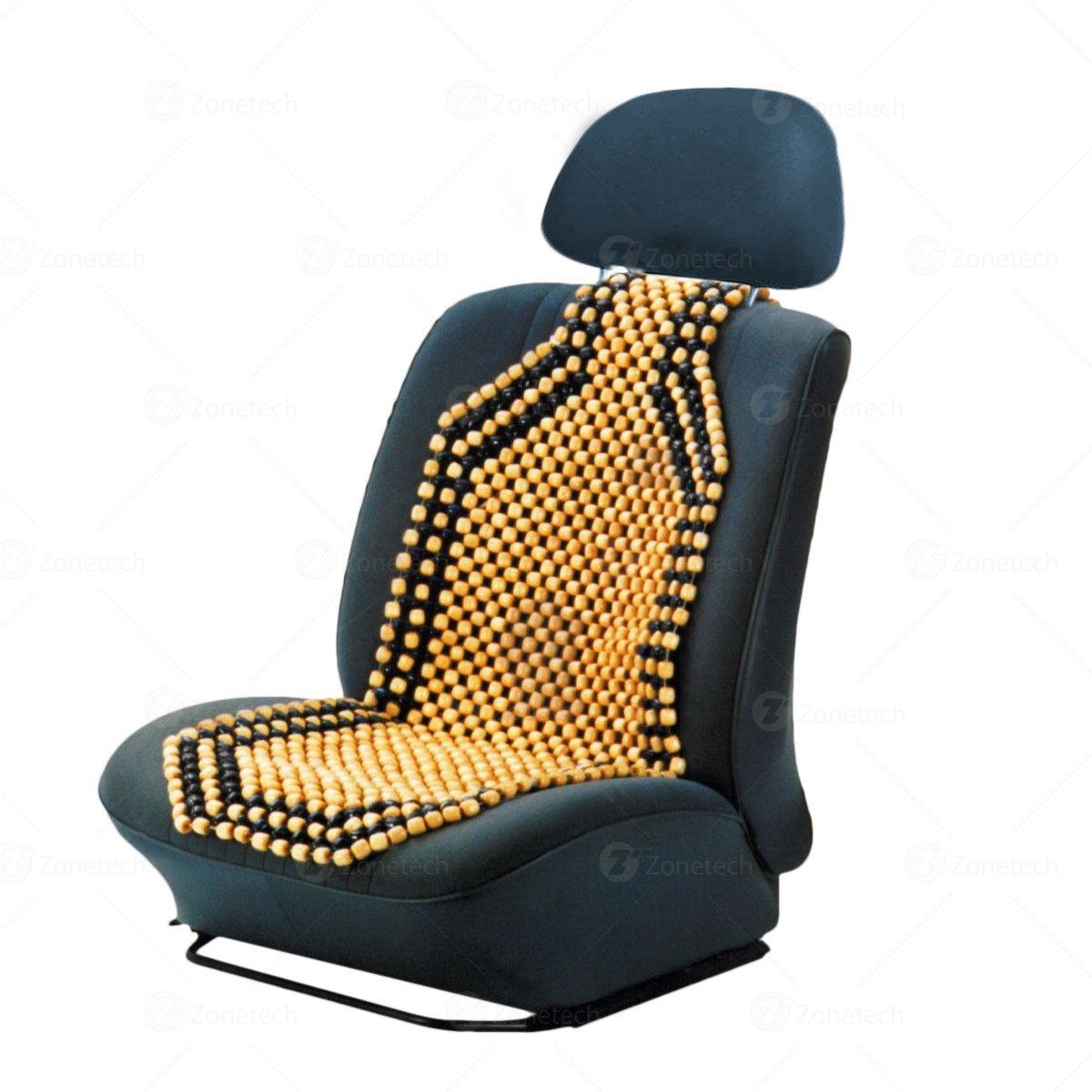 Zone Tech Wood Beaded Seat Cushion