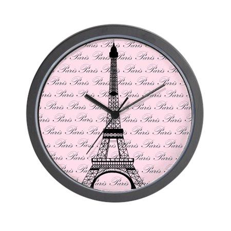 Infinity Eiffel Tower Wall Clock - CafePress - Pink And Black Paris Eiffel Tower - Unique Decorative 10