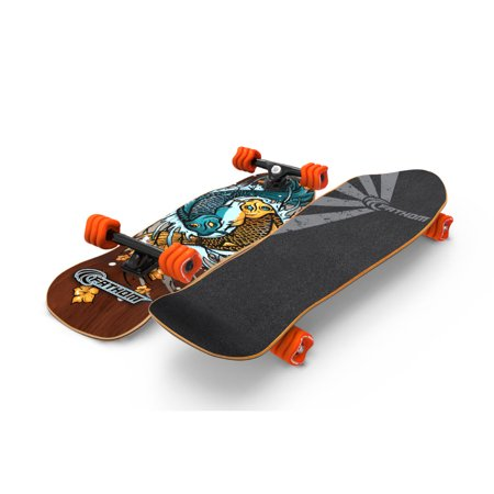 Fathom by Shark Wheel Komoyo Cruiser Longboard Skateboard Complete, Brown