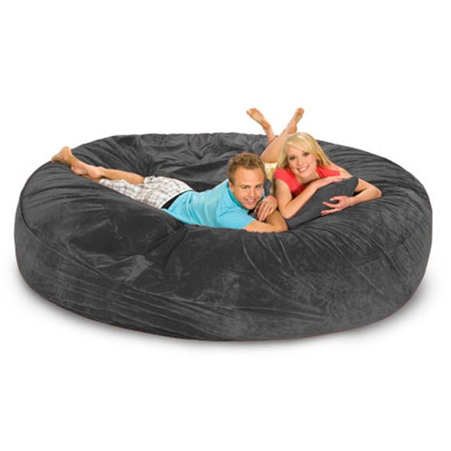 RelaxSacks 8DM-MS004 8 ft. Round Relax Sack - Microsuede Charcoal