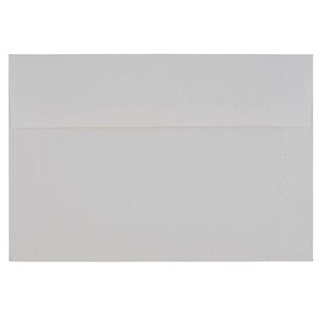 JAM Paper A9 Strathmore Envelope, 5 3/4 x 8 3/4, Bright White Wove, 25/pack