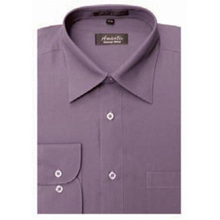 Amanti CL1012-15 1-2x34-35 Amanti Mens Wrinkle Free Violet Dress Shirt - Violet-15 1-2 x 34-35