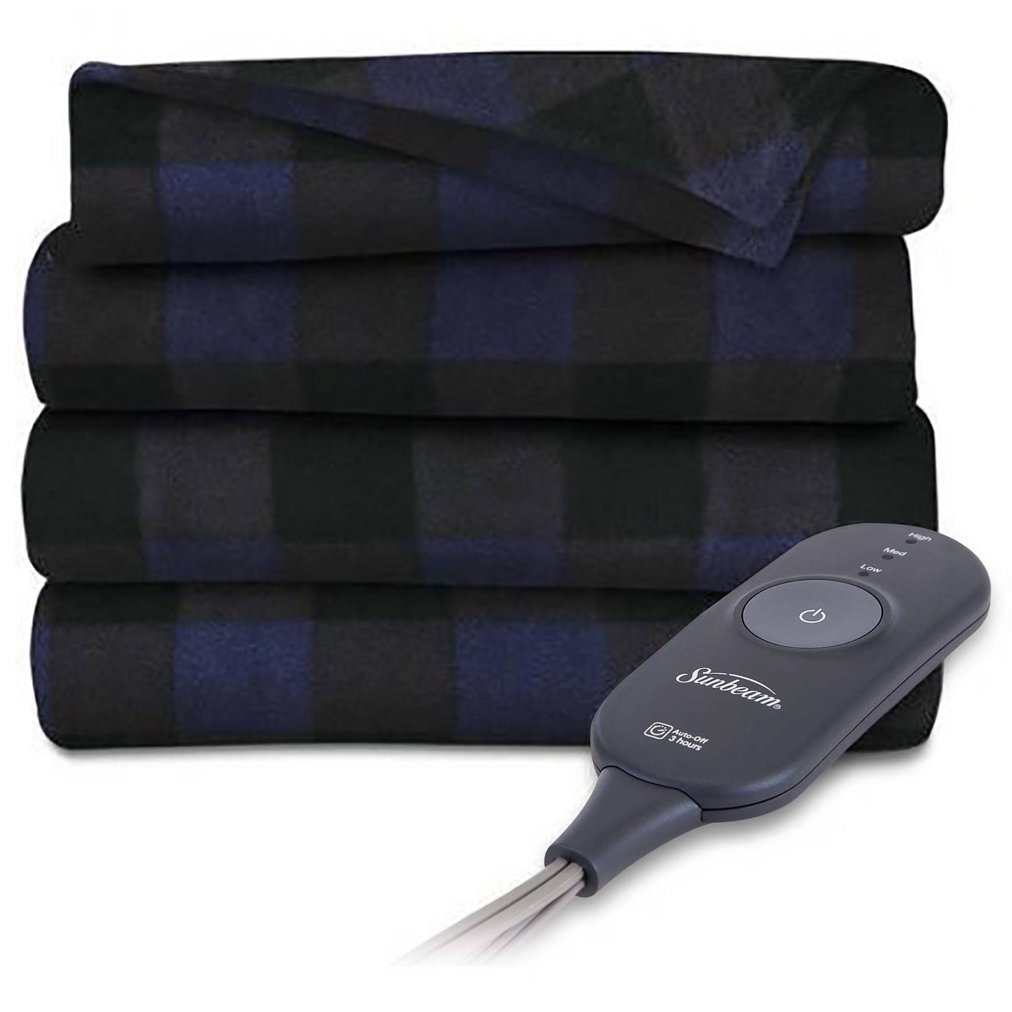 "Sunbeam Fleece 60"" x 50"" Electric Heated Throw Blanket, 1 Each"