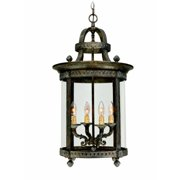 Chatham Collection 4-Light French Bronze Hanging Interior Lantern