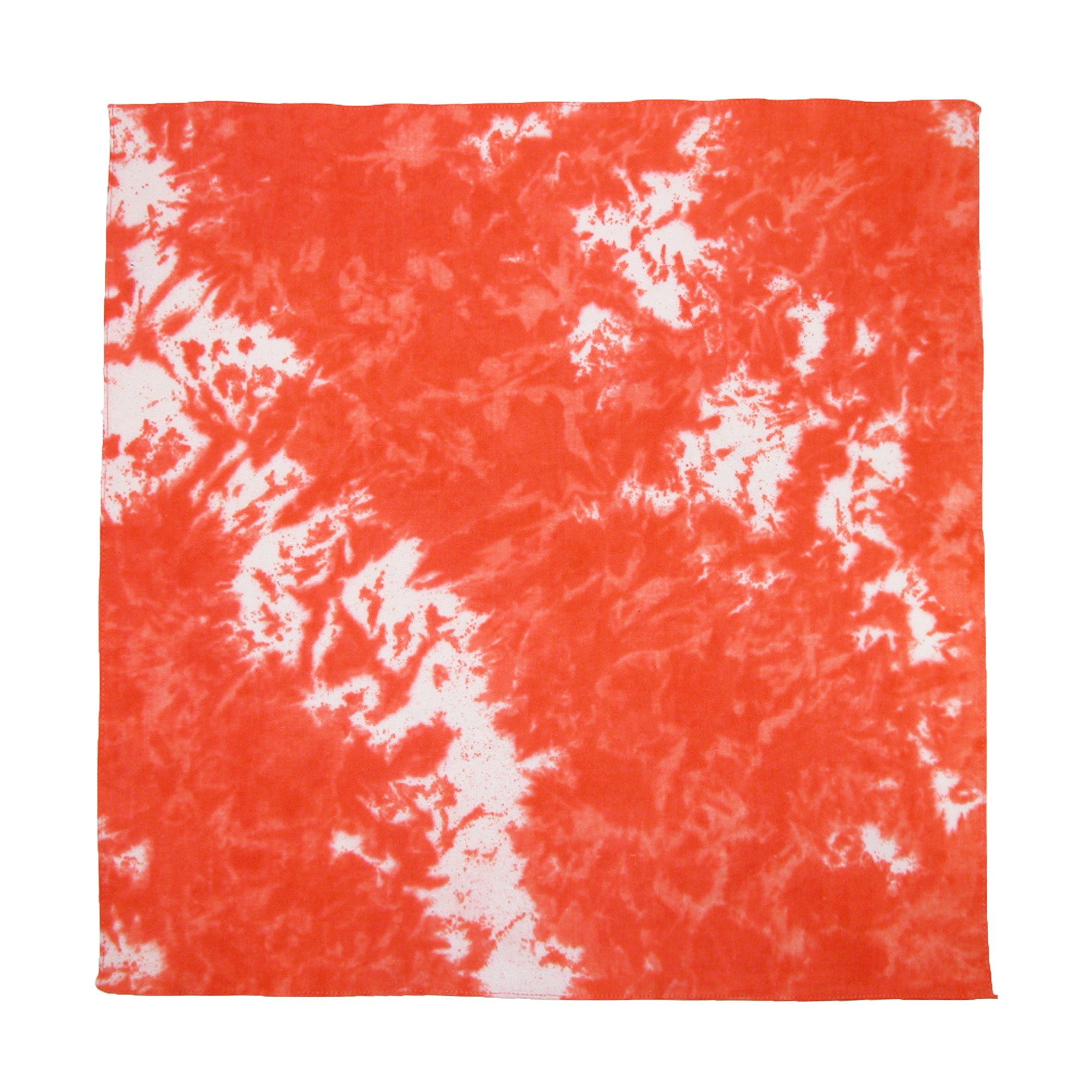 CTM®  Cotton Tie Dye Bandanas, Orange