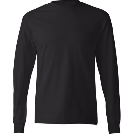 Crew Long Sleeve Work Shirt (Mens Long Sleeve Crew Neck T Shirts Plain Solid Cotton Tee )