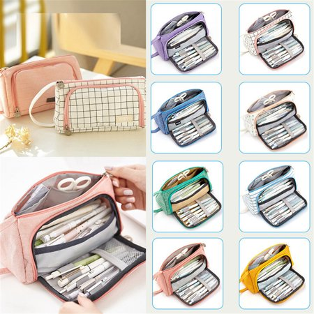 Big Capacity Pencil Pen Case Bag Pouch Holder for Middle High School Office College Girl Adult Large Storage, Boys Girls Back to School Supplies