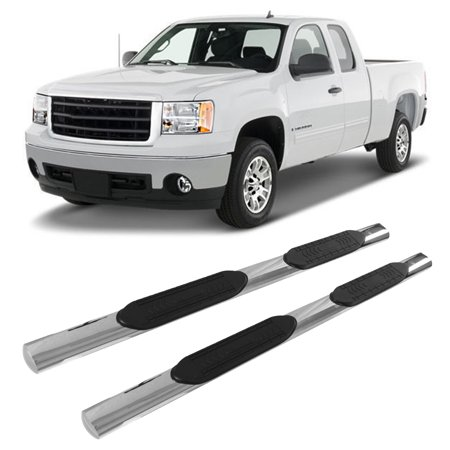 Dilwe Side Step Boards, Running Boards,Fits for 07-18 Silverado GMC Sierra Extended Cab 5In Stainless Steel Side Step