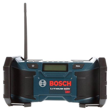 - Bosch PB180 18V Lithium-Ion AM/FM Radio with MP3 Compatibility