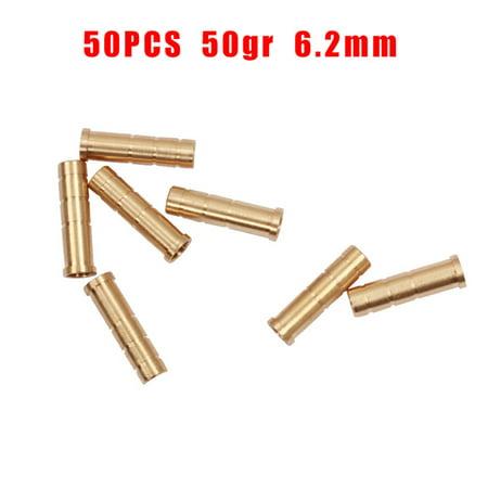 10/30/50pcs Archery Arrow Insert Brass Base Screw Weight 6.2mm Arrow Shaft DIY thumbnail