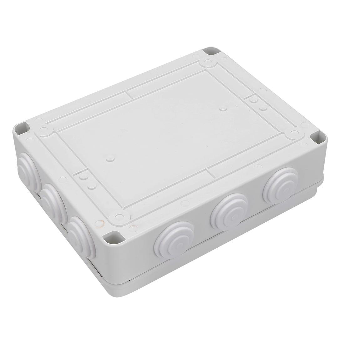 """Unique Bargains 10.04"""" x 7.87"""" x 2.99"""" ABS Junction Box Universal Project Enclosure White - image 2 de 5"""