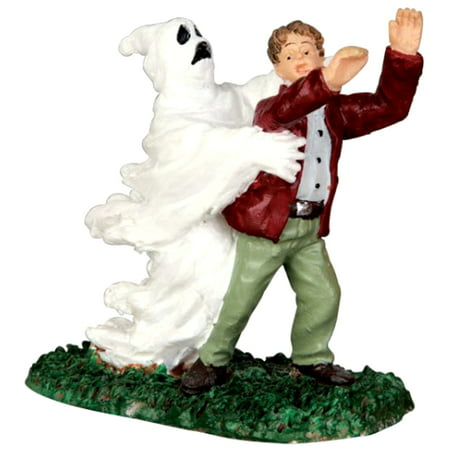 Lemax 42206 GHOST GRASPS VICTIM Spooky Town Figurine Village Halloween Decor (Halloween Town 1)