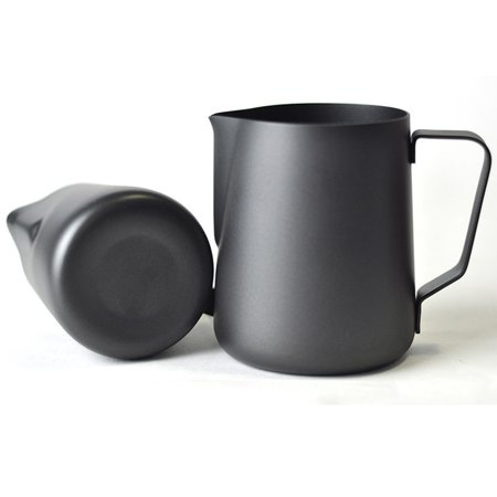 KCASA KC-BKM03 350ml Coffee Mug Pitcher Thick Stainless Steel Cup Frothing Milk Latte Foam Jug - Halloween Milk Jug Faces