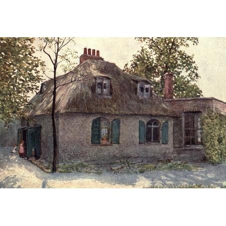 Norman One Light - London Vanished & Vanishing 1905 Cottage nr Paddington Green Canvas Art - Philip Norman (24 x 36)