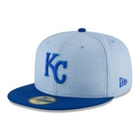 Kansas City Royals New Era 2018 Father's Day On Field 59FIFTY Fitted Hat - Light Blue