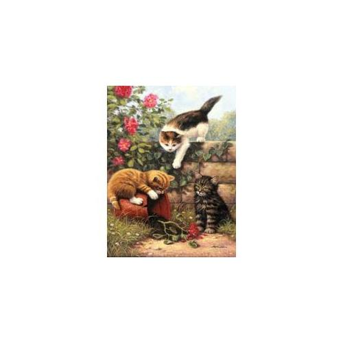 Royal Brush 422112 Junior Small Paint By Number Kit 8. 75 inch X 11. 75 inch -Kittens At Play