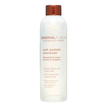 Mineral Fusion Nail Polish Remover, 6 Fl Oz Acetone Free Nail Polish Remover