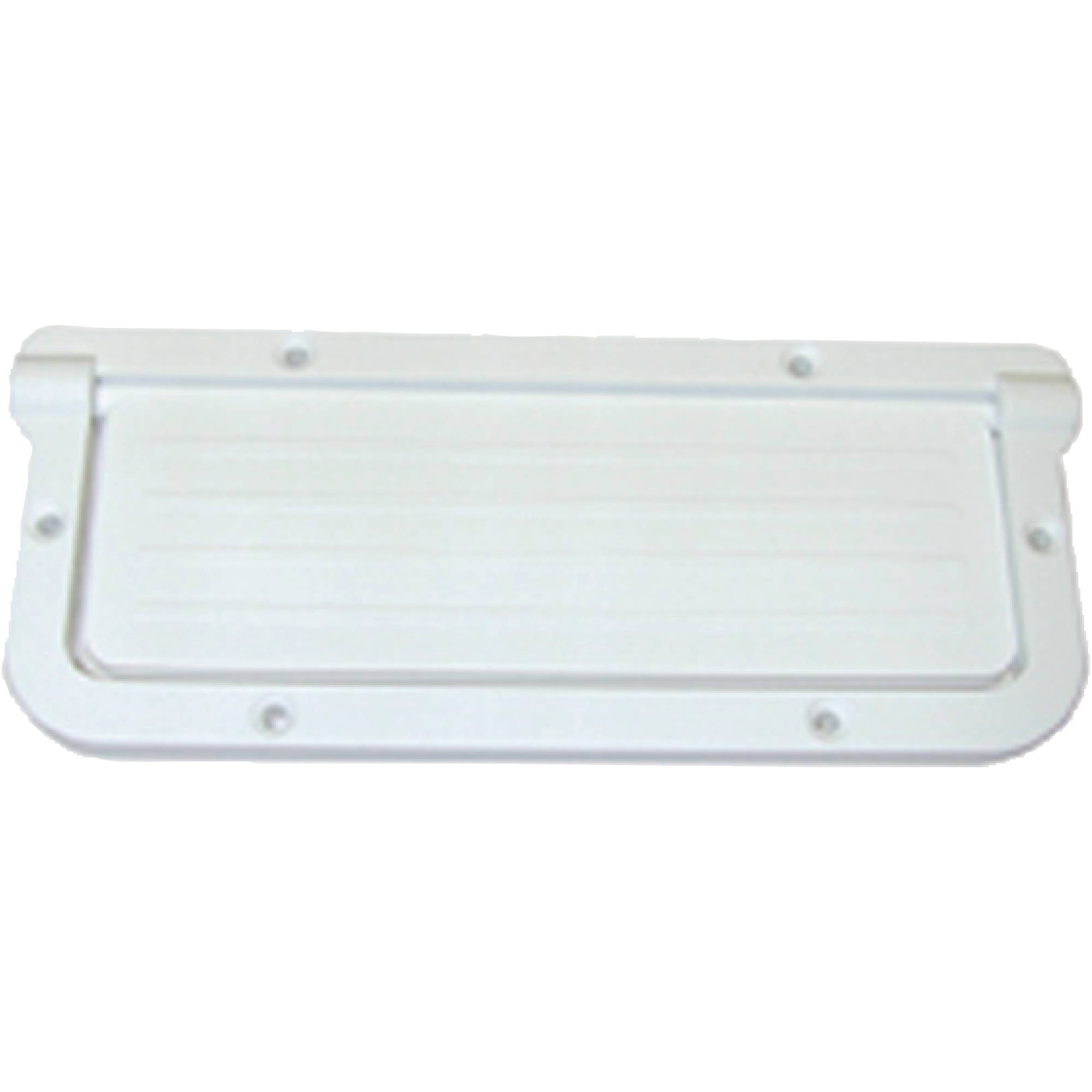 "T-H Marine Large Rectangular Scupper fits 2 x 5-1 2"" Hole, White by T-H Marine Supplies"