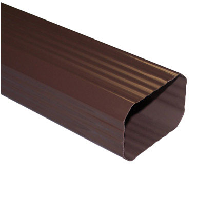Duraspout AB200 Downspout, 10 ft L X 3 in W X 2 in, Brown Vinyl